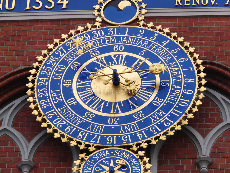 Download Antique clock stock image. Image of hour, outdoor, gilded - 12159745