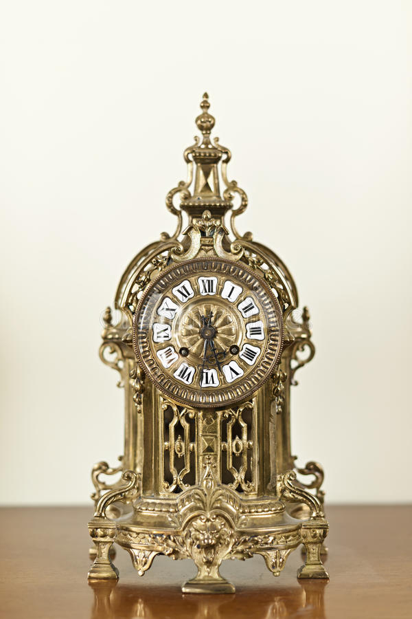 Download Antique clock stock image. Image of minute, metal, round - 23506503