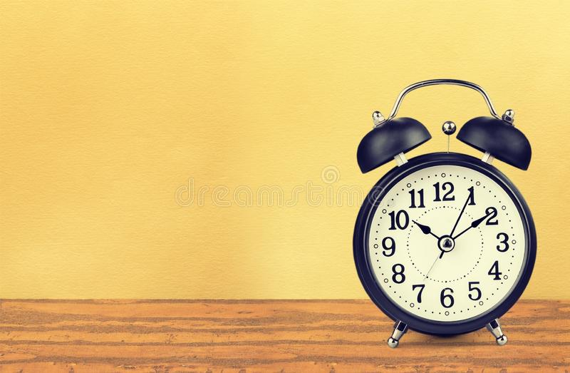 Antique Clock. Old Wall Clock Face Shelf Old-fashioned Time Clock stock image