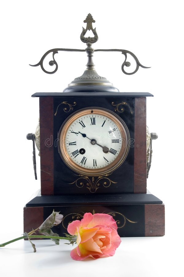 Download Antique Clock With Spanish Ros Stock Photo - Image: 4886490
