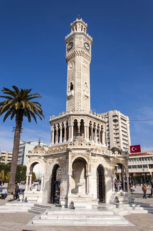 Download Antique Clock Tower From Izmir Editorial Stock Photo - Image: 27127233