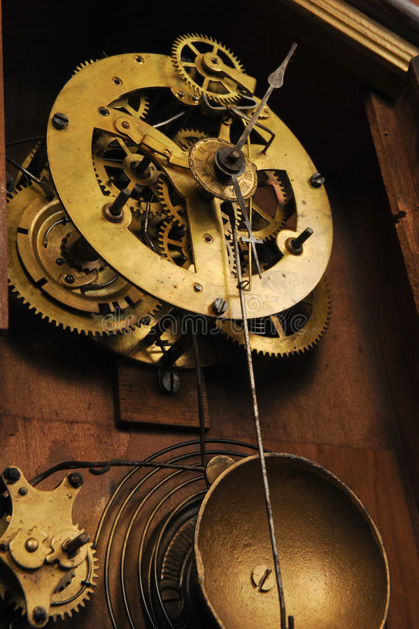 Antique Clock Works royalty free stock photo