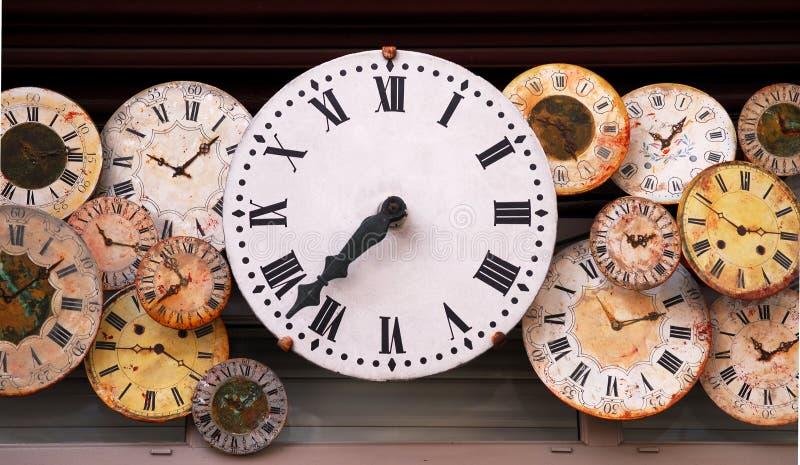 Antique clocks royalty free stock photo