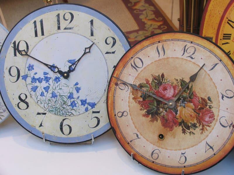 Antique clocks stock images
