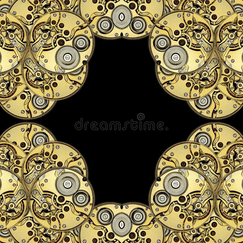 Antique clockworks abstract background vector illustration