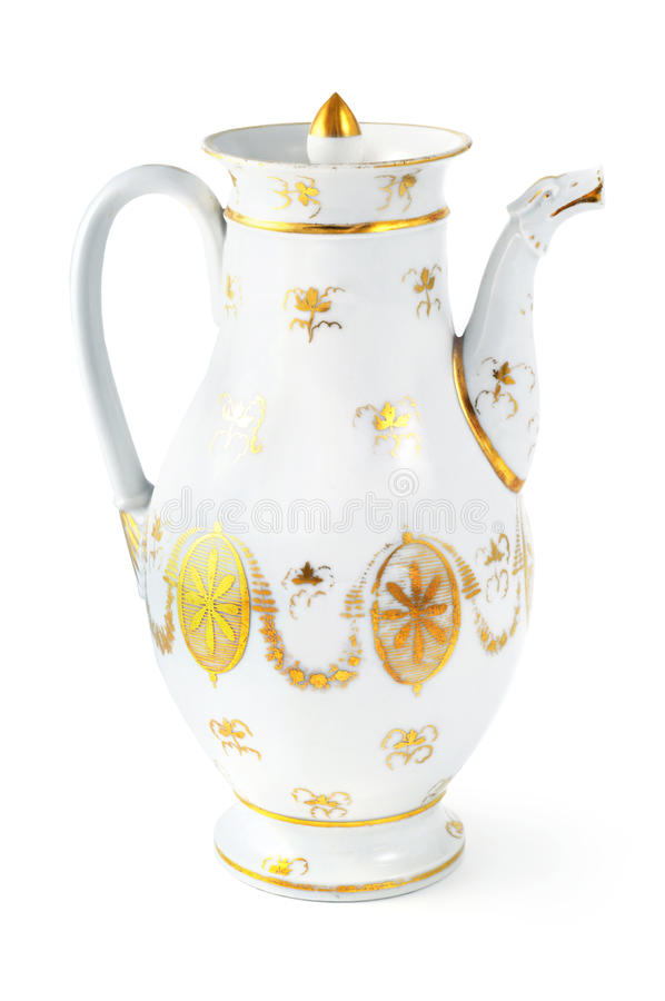 Antique coffee pot from 19th century & x28;Biedermeier time& x29; royalty free stock photography