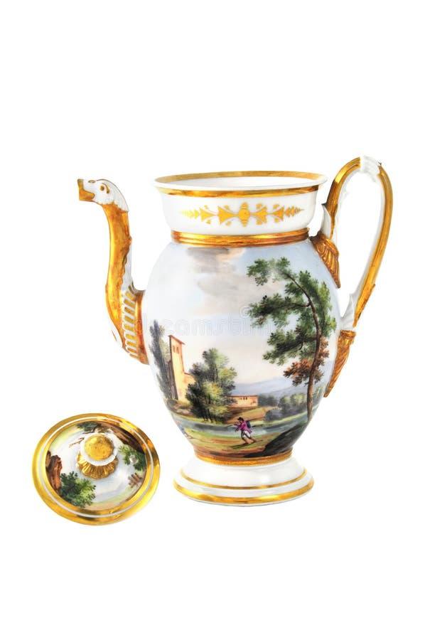 Antique coffee pot from 19th century & x28;Biedermeier time& x29; stock photos
