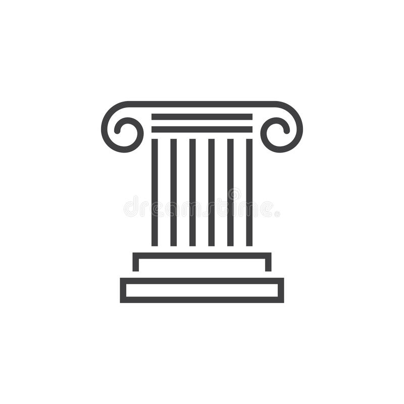 Free Antique Column Line Icon, Pillar Outline Vector Logo, Linear Pic Royalty Free Stock Images - 95988099