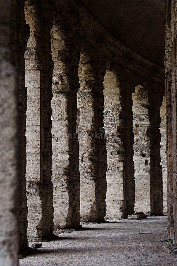 Antique columns of Theatre Marcello, Rome royalty free stock photo