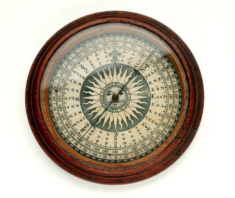 Antique Compass Stock Photography