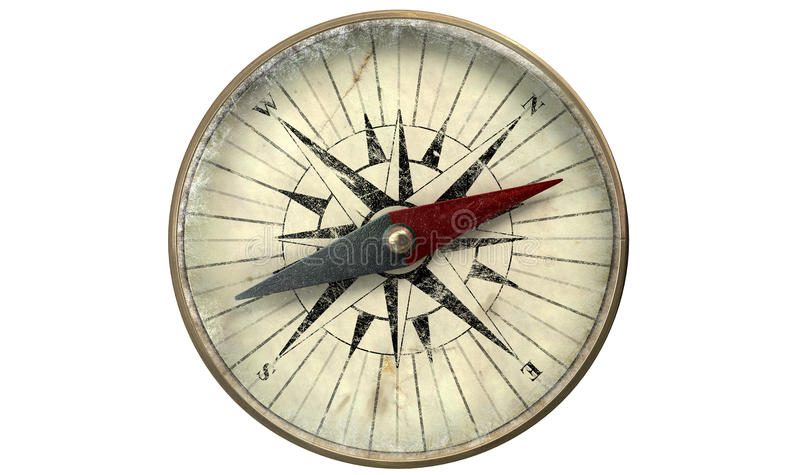 Antique Compass royalty free stock images