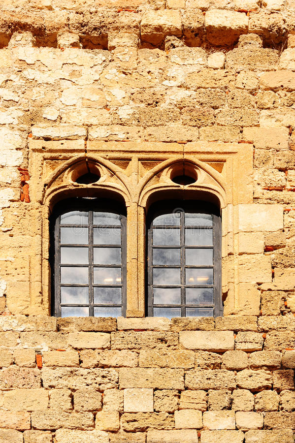 Antique Construction. On the Greek Island of Rhodes royalty free stock images