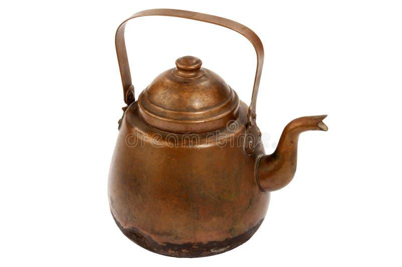 Download Antique copper coffee pot stock image. Image of retro - 17689767