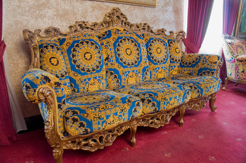 Download Antique Couch stock photo. Image of divan, house, nobody - 29054238