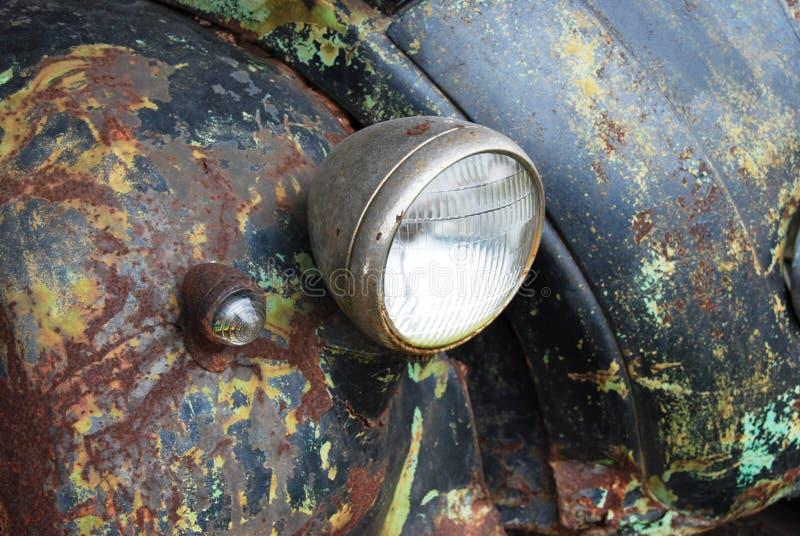 Antique crushed car