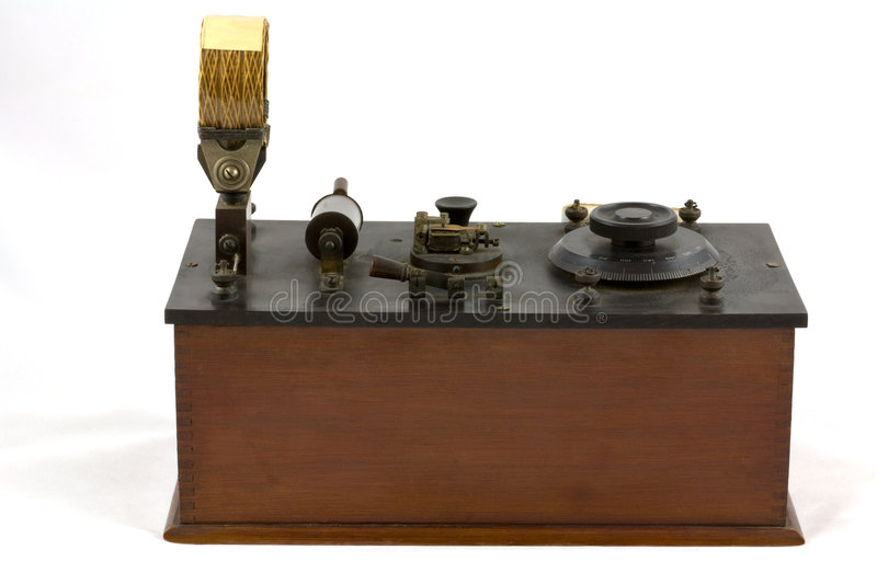Download Antique Crystal Radio Receiver Stock Photo - Image: 5118120