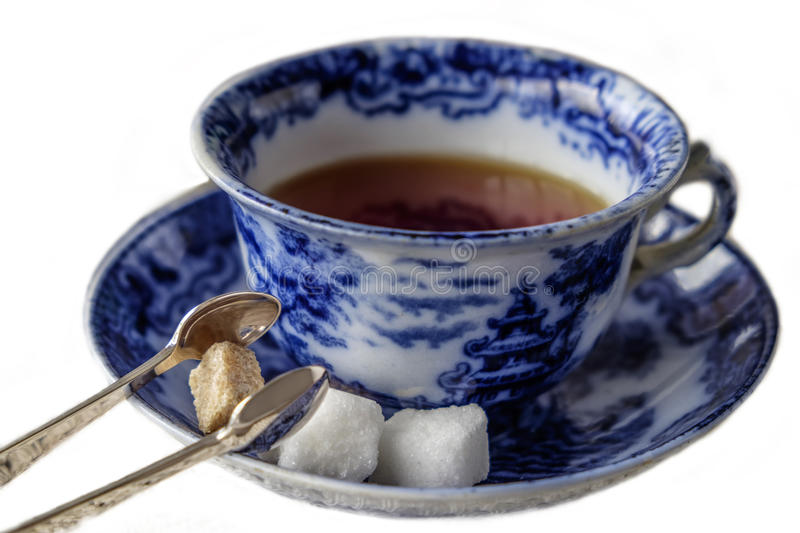 Antique cup and saucer stock photography