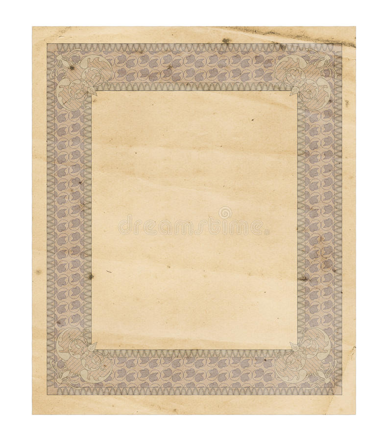 Antique Decorated Paper Royalty Free Stock Image