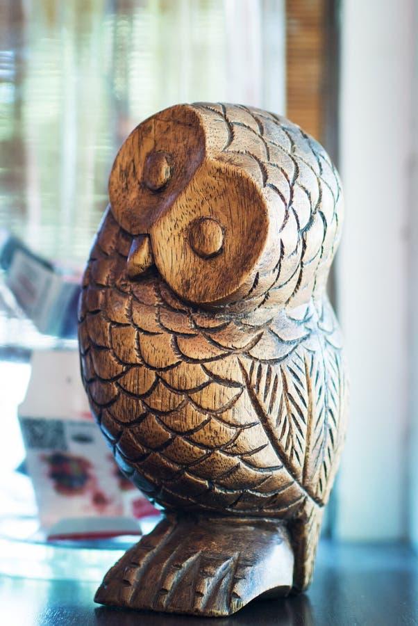Antique Decorative Duck Decoy. Owl bird royalty free stock photos