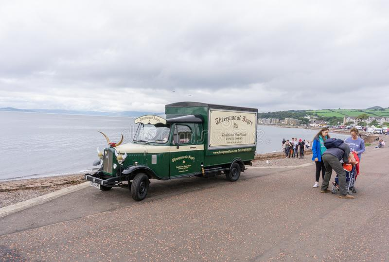 Antique Delivery Van at Largs Food festival stock images