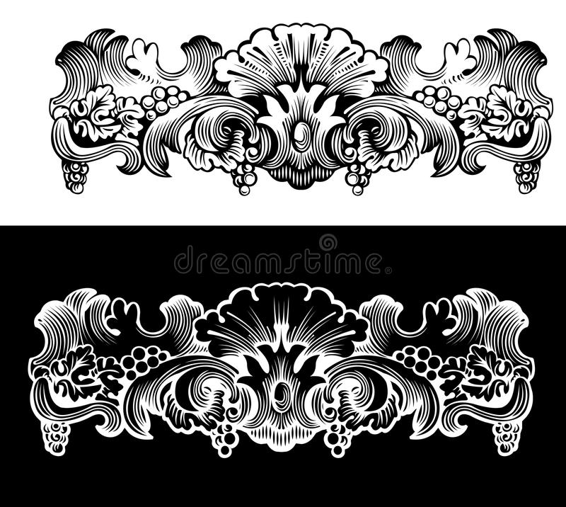 Antique Design Ekement Engraving. Scalable And Editable Vector Illustration vector illustration