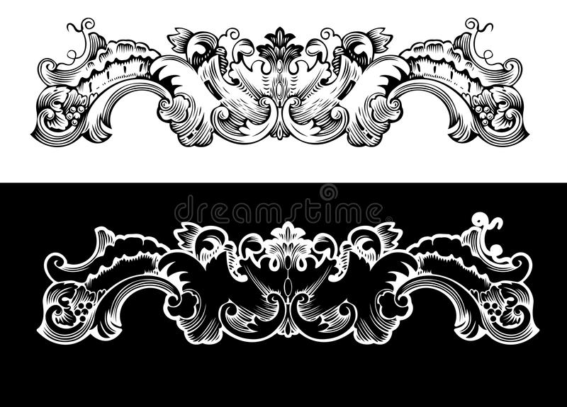 Antique Design Element Engraving. Scalable And Editable Vector Illustration vector illustration