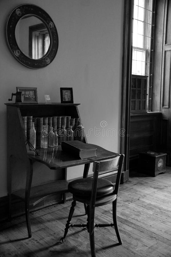 Download Antique desk and chair stock image. Image of interior - 12563731