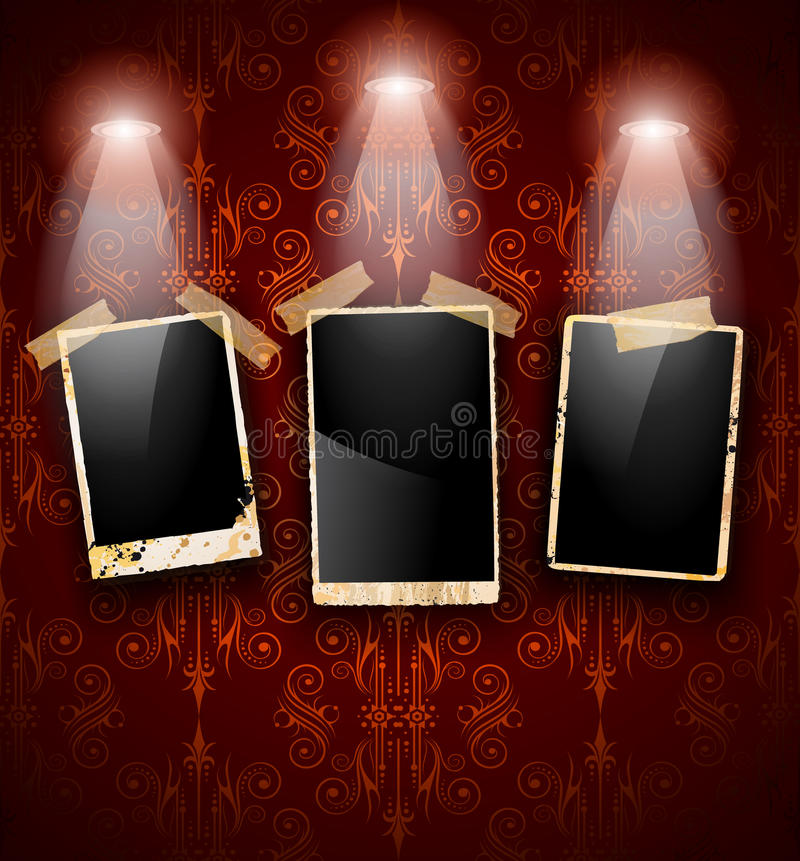 Download Antique Distressed Photoframes Stock Vector - Illustration of frame, decorative: 21415250