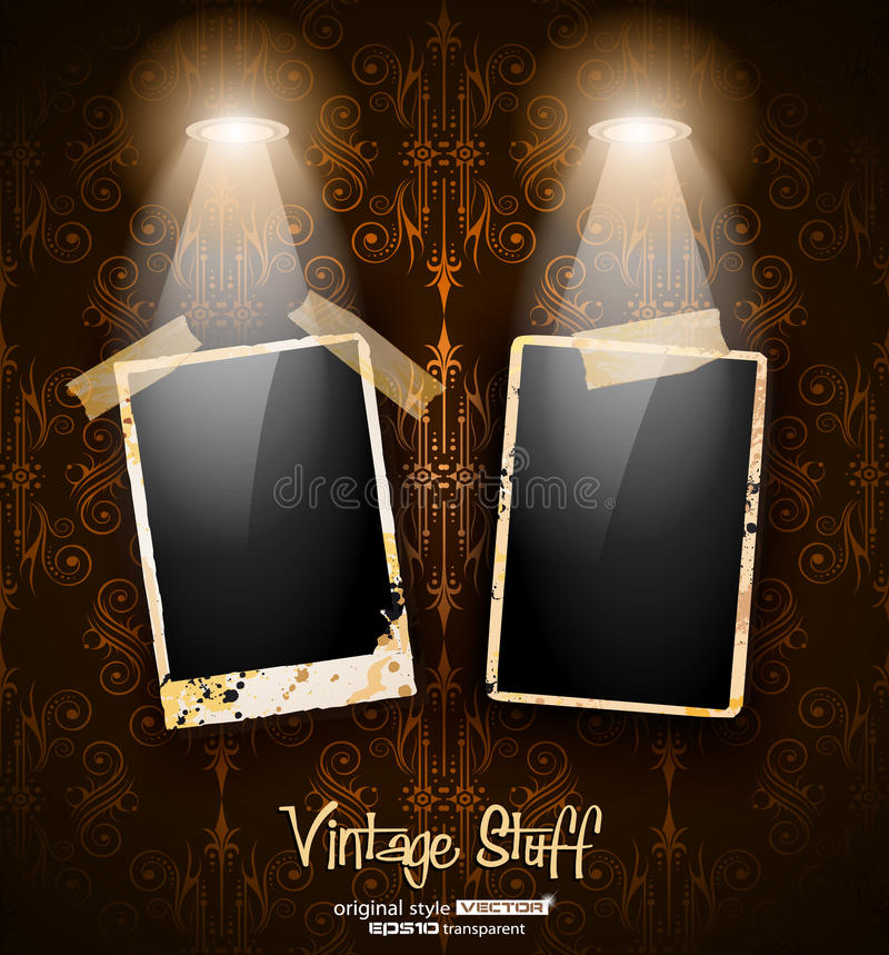 Download Antique Distressed Photoframes Stock Vector - Illustration of photography, label: 22977145