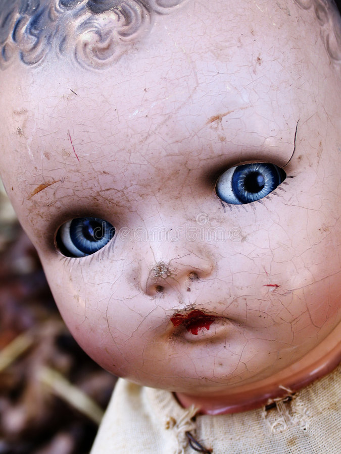 Download Antique doll face stock image. Image of broken, doll, celluloid - 535645