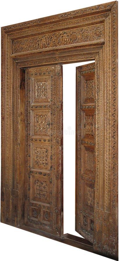 Download Antique Door stock image. Image of open, wood, sculptured - 16839
