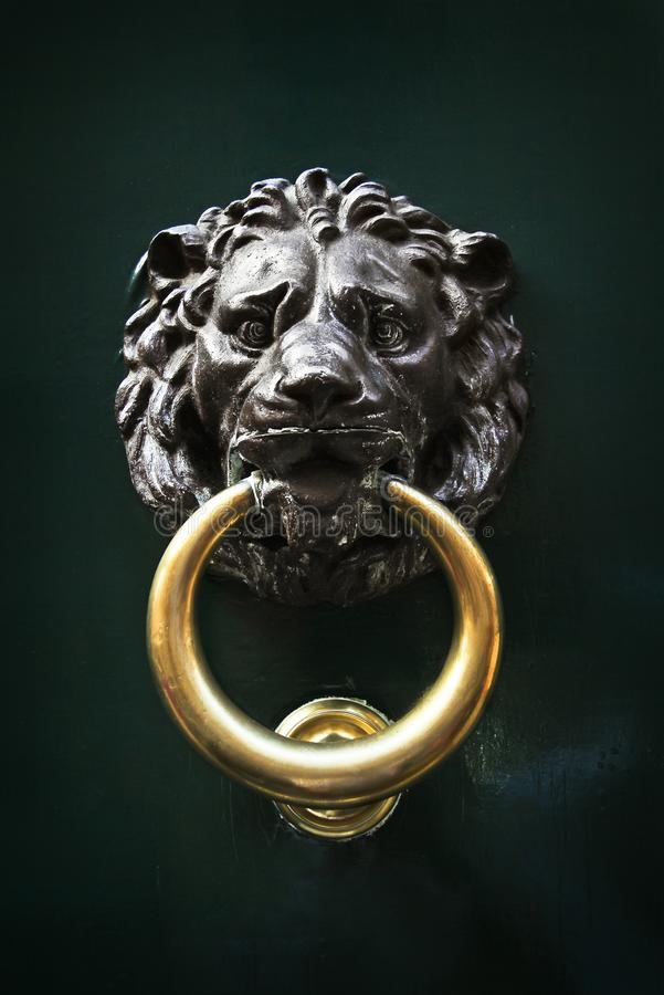 Free Antique Door Knocker In The Form Of A Lion`s Head, Rome, Italy Stock Photography - 114470962