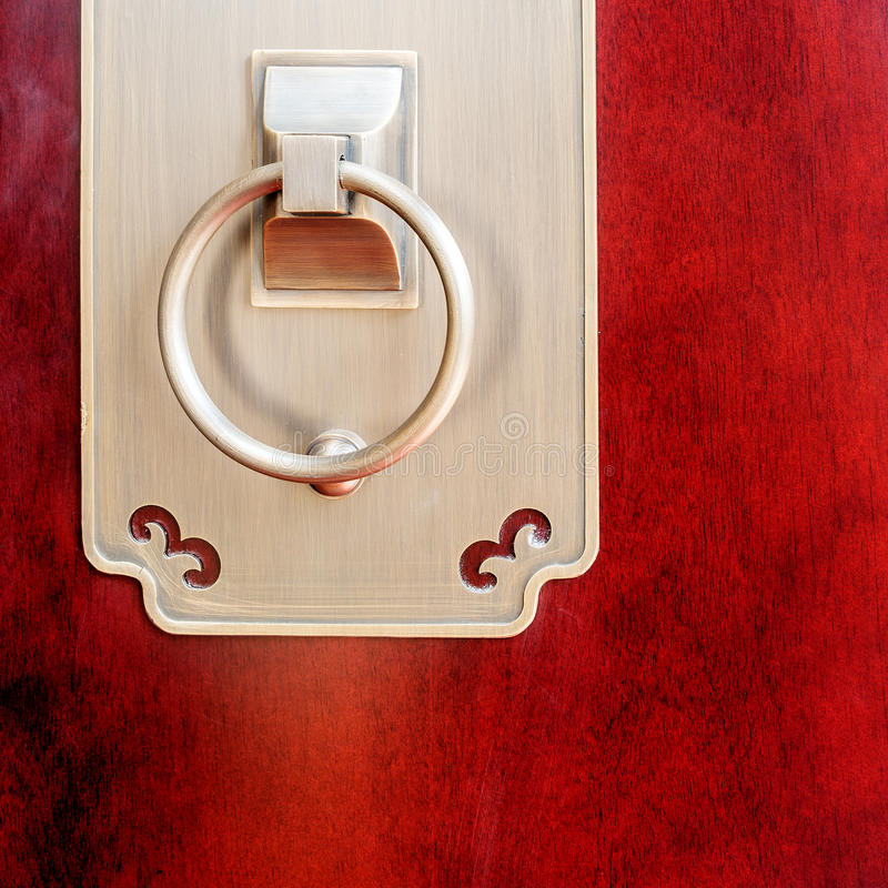 Antique door ring royalty free stock photography