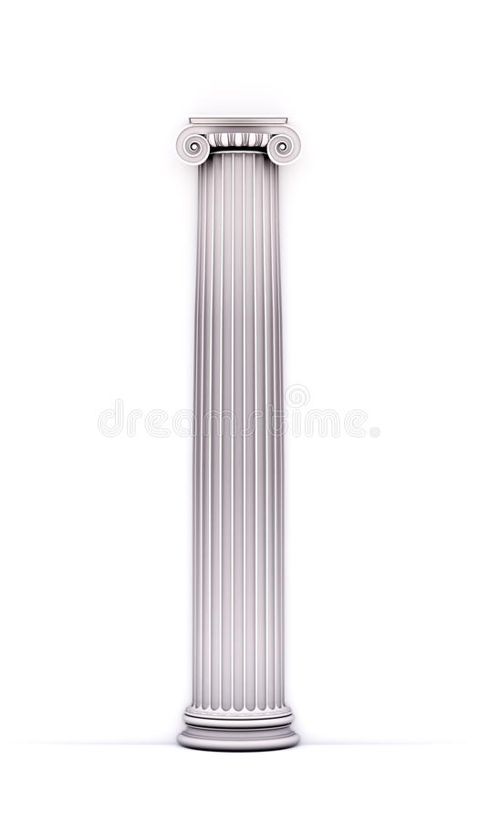 Antique doric style column royalty free stock image