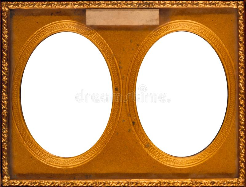 Antique Double Frame stock images