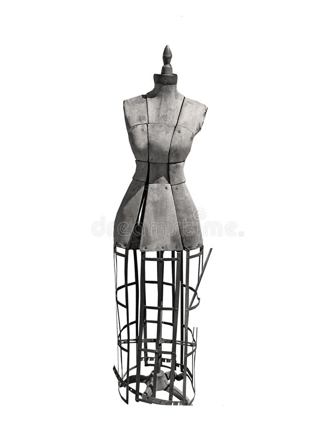 Antique dress form for seamstress royalty free stock image