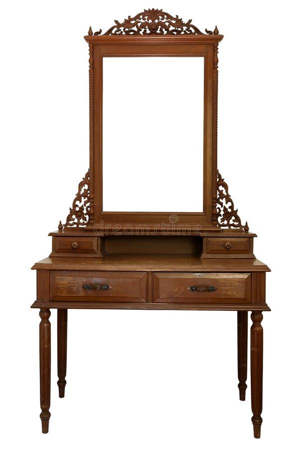 Ornate White Wood Dressing Table Stock Image Image Of