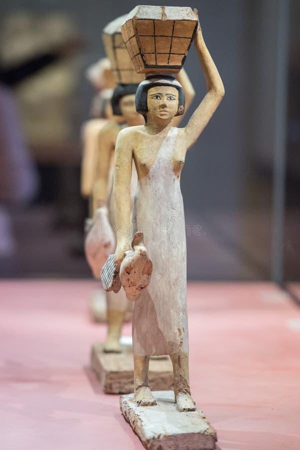 Antique egyptian statuette close up. Beautiful art statuette form ancient egypt stock image