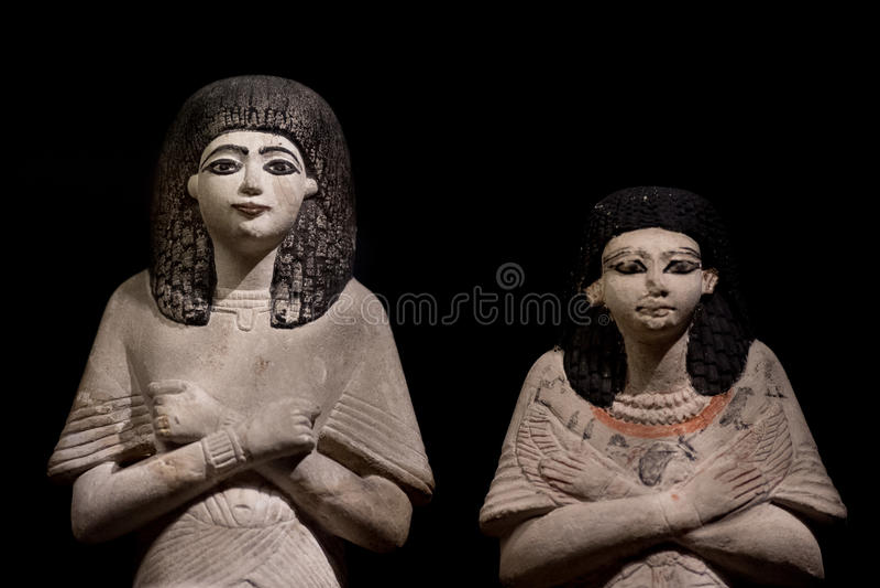 Antique egyptian statuette close up. Beautiful art statuette form ancient egypt stock images