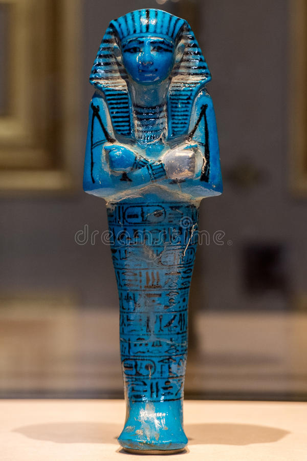 Antique egyptian statuette close up. Beautiful art statuette form ancient egypt royalty free stock photo