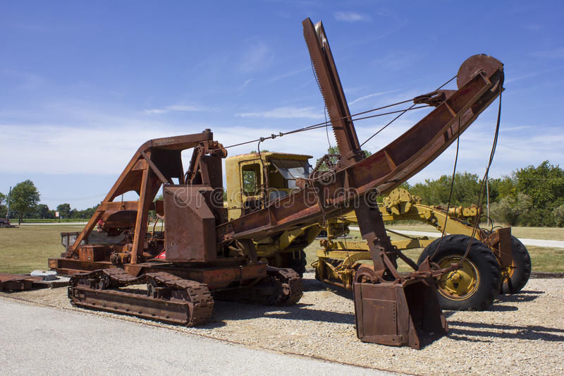 Antique Electric Coal Mining Shovel. On display at the Big Brutus Museum in West Mineral, Kansas stock image