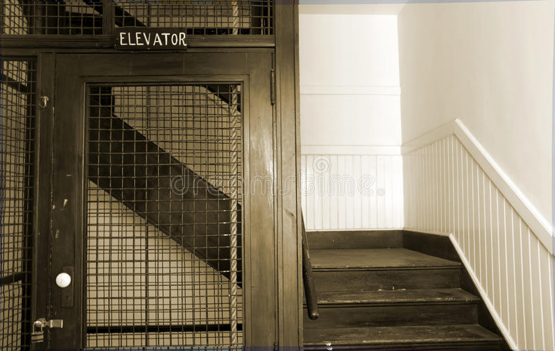 Antique elevator stock images