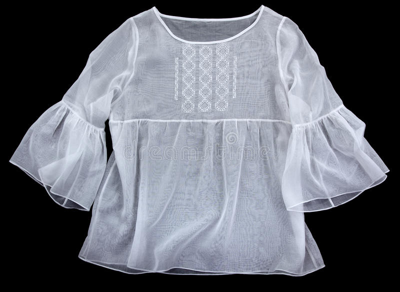 Antique embroidered women's blouses stock photography