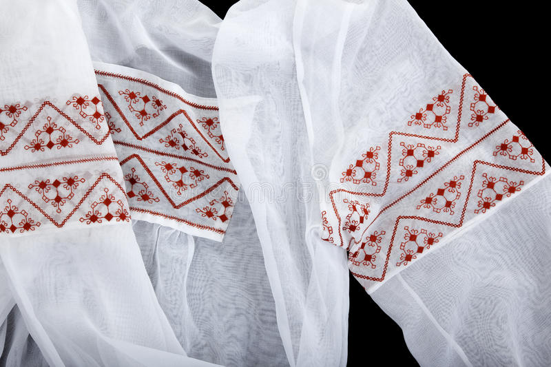 Antique embroidered women's blouses royalty free stock photo