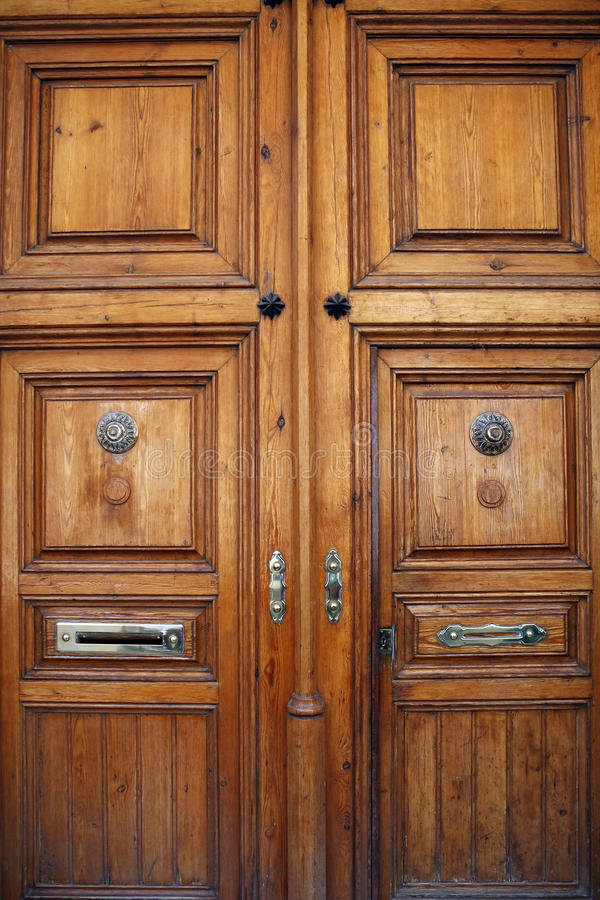 Antique entrance door stock images