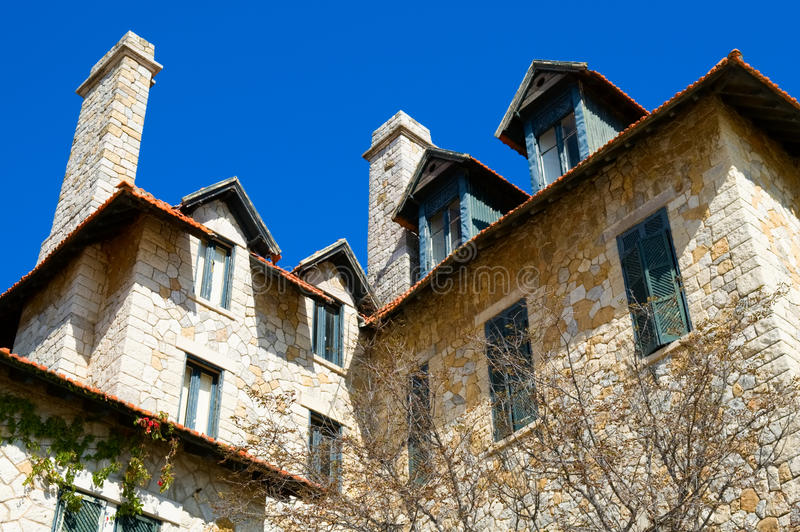 Antique european construction. The view of antique european construction royalty free stock images