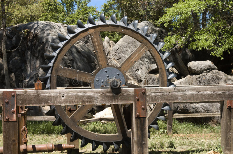 Antique Two Wheel Tractor : Antique farm equipment stock image of classic