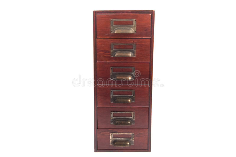 Antique file card cabinet stock photography