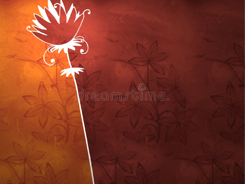 Antique floral background royalty free illustration