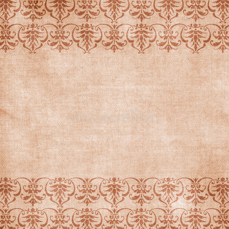 Antique Floral Damask Background royalty free illustration